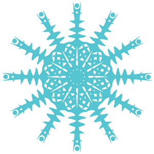 Original Snowflake On White