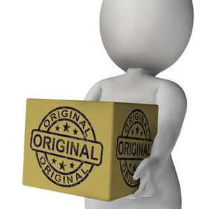Original Stamp On Box Shows Genuine Authentic Products
