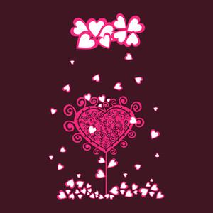 Original Valentine Tree Under Heart Rain.