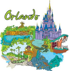 Orlando Vector Doodle