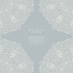Ornamental Corner Lace Frame. Background For Celebrations