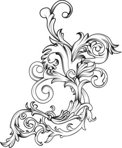 Ornamental Floral Vector