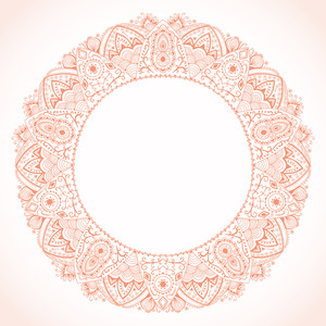 Ornamental Round Lace Frame  Background For Celebrations