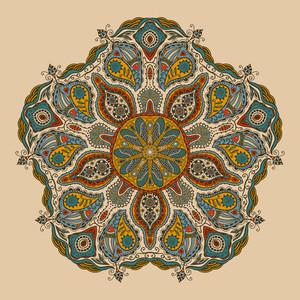 Ornamental de encaje redondo