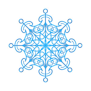 Ornamental Snowflake Element
