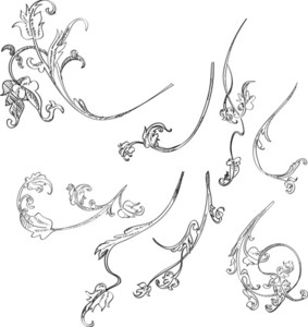 Ornaments Handdrawn 2 Vector