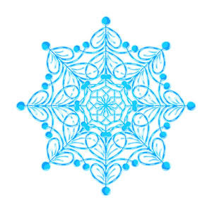 Ornate Decor Snowflake