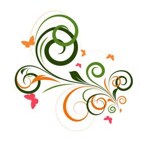 Ornate Festive Floral Art