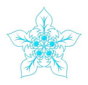 Ornate Floral Snowflake