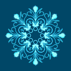 Ornate Flourish Snowflake