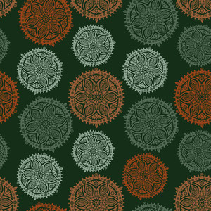 Ornate Snowflake Pattern On Grunge Background