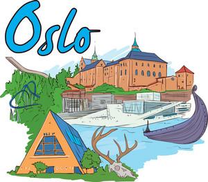 Oslo Vector Doodle