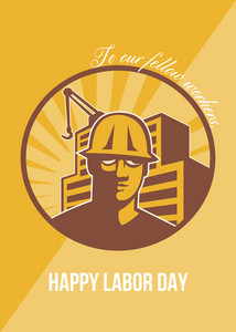 Our Fellow Workers Labor Day Poster Retro