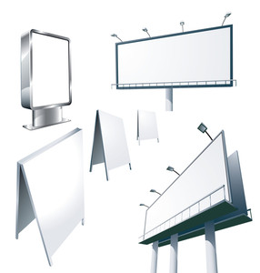 Outdoor Advertising Constructions. Vector.