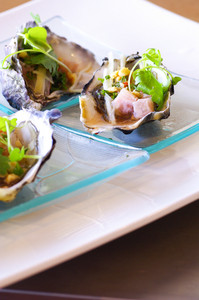 Oyster luxury on dish