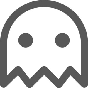 Pac Man Ghost Stroke Icon