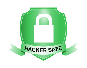 Padlock Hacker Safe Shield And Ribbon