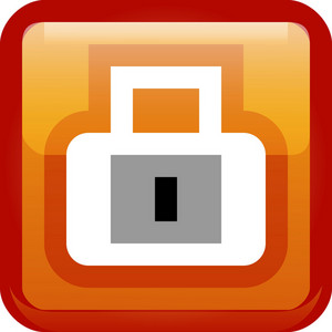 Padlock Privacy Orange Tiny App Icon