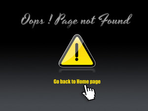 Page Not Found Warning