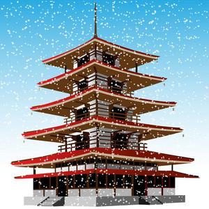 Pagoda Winter