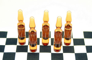 Pain Killer Ampules On Chess Background