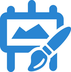 Paint Brush Easel Simplicity Icon