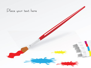 Paint Color And Brush And Place For Your Text
