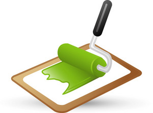 Paint Roller On Canvas Lite Art Icon