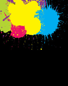 Paint Splash On Black Background Vector