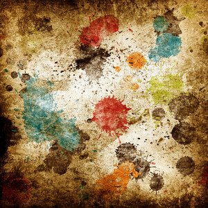 Paint Splatters Grunge Background