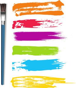 Paintbrush Strokes Vectors