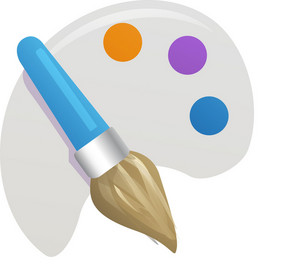 Paintbrush With Color Palette