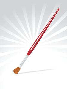 Paintbrush With Flat Edge