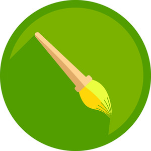 Painting Brush Shape Icon