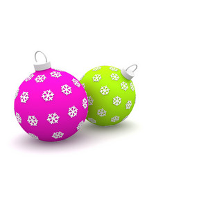 Pair Of Christmas Balls