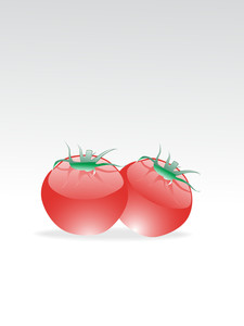 Pair Of Glossy Tomato With Background