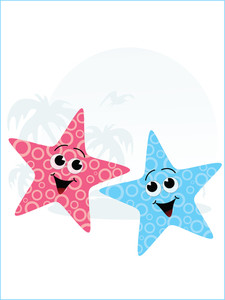 Pair Of Little Starfish