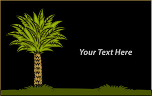 Palm Tree Vector Banner