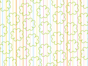 Panel Line Background With Floral