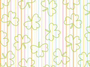 Panel Lines Background With Shamrock