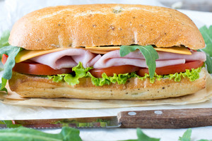 Panini Sandwich With Ham