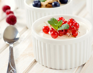 Panna Cotta With Red Currant