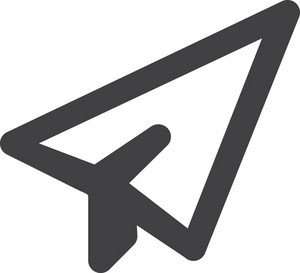 Paper Airplane Stroke Icon