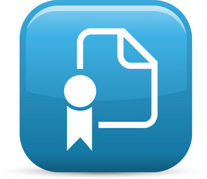 Paper Award Elements Glossy Icon