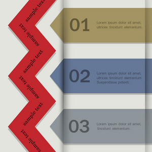 Paper Banners For Infographics