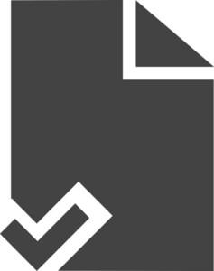 Paper Check Glyph Icon