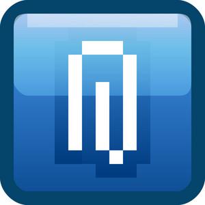 Paper Clip Blue Tiny App Icon