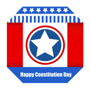 Paper Design  Constitution Day Vector Illustration