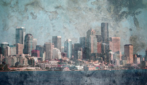 Paper Grunge Subtle Skyline