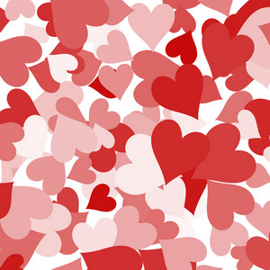 Paper Hearts Background Showing Love Romance And Valentines
